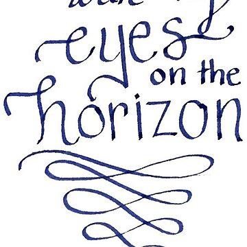 Ojos en el horizonte, en las alturas de bwaycalligraphy