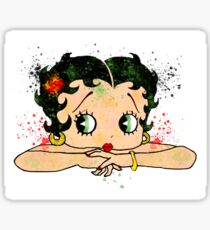 Betty Boop Watercolor Art Sticker