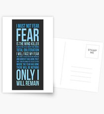 Litany Against Fear (long) Postcards