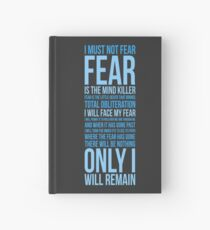 Litany Against Fear (long) Hardcover Journal