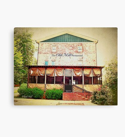 """The Old Mill Restaurant""... prints and products Canvas Print"