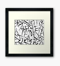 Geometry forest Framed Print