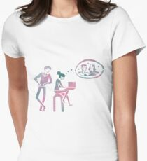 fangirl rainbow rowell Womens Fitted T-Shirt