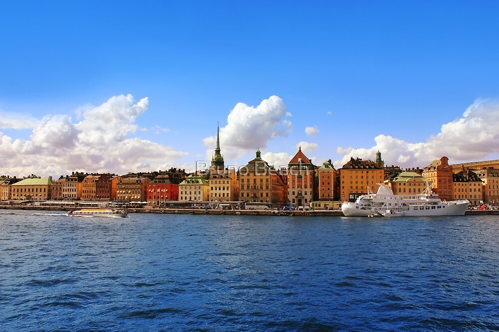 Panorama of Gamla Stan in Stockholm, Sweden by Bruno Beach