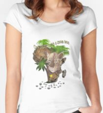 Only Hunt with a Zoom lens Women's Fitted Scoop T-Shirt