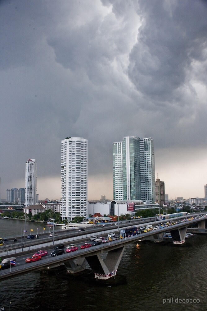 Stormy Bangkok by phil decocco