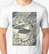 Raven, libra and a scorpio. Unisex T-Shirt
