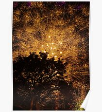 Long Exposure Fireworks Poster