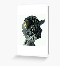 Halo Game Master Chief Illusions Most Popular Xbox ps Greeting Card