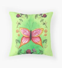 Magical Butterfly Throw Pillow