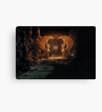 The NeverEnding Story - Sphinxes Gate Dots Canvas Print