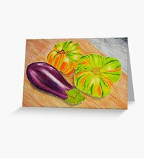 Vibrant Vegetable Still Life Greeting Card