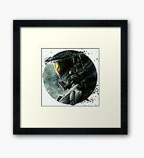 Halo Master Chief Illusions T shirt Most Popular Framed Print
