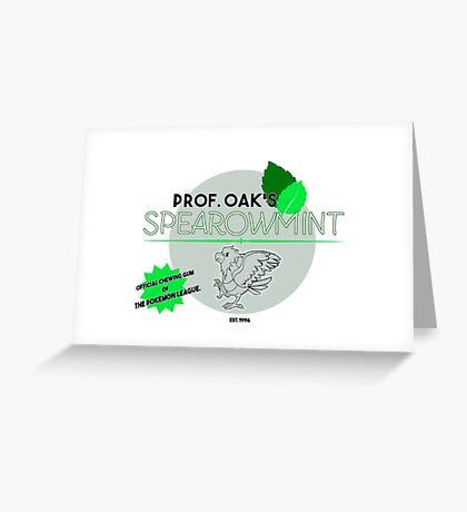 Spearowmint Gum Greeting Card