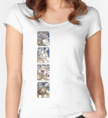 Awesome Bunnies Photobooth Series Women's Fitted Scoop T-Shirt