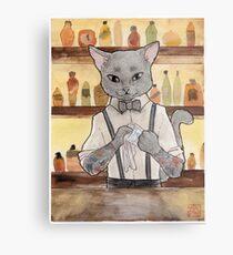 Bartender Cat Takeshi Metal Print