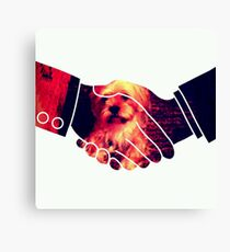 Dogs Animal Hands Illusion Most T shirt Popular Canvas Print
