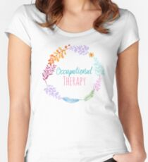 Occupational Therapy Wreath Women's Fitted Scoop T-Shirt