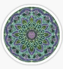 Hand Drawn Pink Purple Mandala  on Dark Sticker