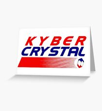 Kyber Crystal Greeting Card