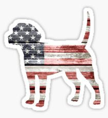 Patriotic Beagle Sticker