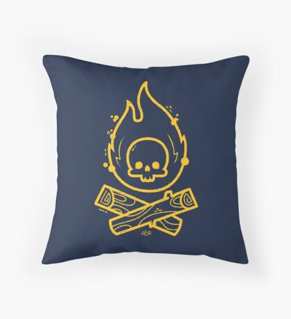 Camp or Die Throw Pillow