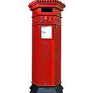 Big Red Victorian Mail Box, London, Royal Mail by Remo Kurka