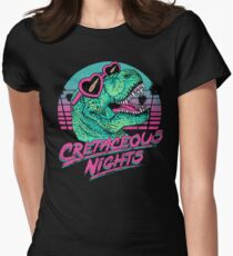 Cretaceous Nights Women's Fitted T-Shirt