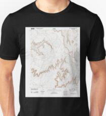 USGS TOPO Map Arizona AZ White Area Canyon 20111026 TM Unisex T-Shirt