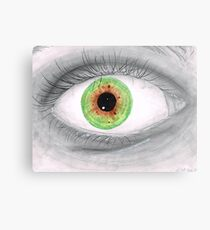 Semi Realistic Eye Metal Print