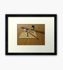 Pens And Paper Framed Print
