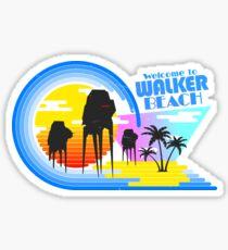 Welcome to Walker Beach Sticker