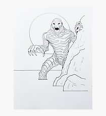 Creature From The Lagoon Photographic Print
