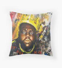 Biggie Tribute Throw Pillow