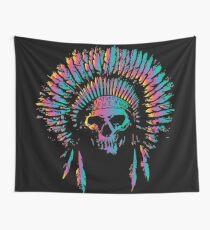 Skull Chief Wall Tapestry