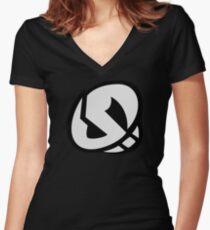 Team Skull (HQ) Sun Moon Women's Fitted V-Neck T-Shirt