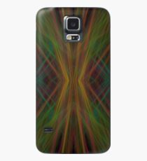 Abstract Triangles Black Green Blue Case/Skin for Samsung Galaxy