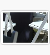 Four White Wooden Chairs... Sticker