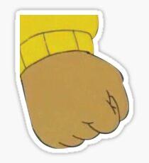 Arthur fist Sticker