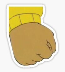 Arthur fist Sticker