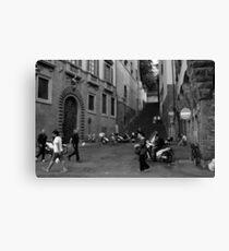 Street Scene, Oltrarno, Florence Canvas Print