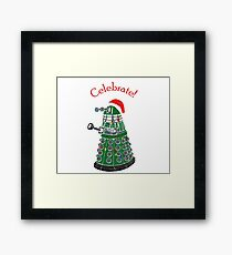 Dalek - Celebrate! Framed Print