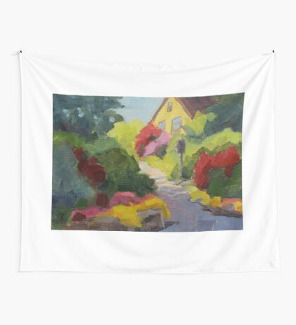 Garden Path - Daily Painting Wall Tapestry