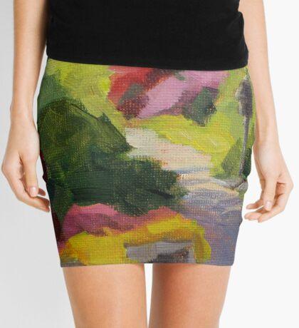 Garden Path - Daily Painting Mini Skirt