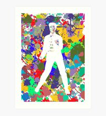 Colours to the King (Elvis Presley) 6 Art Print