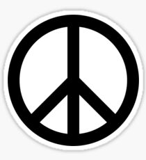 Nuclear Disarmament Peace Symbol Sticker