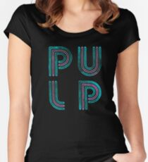 Pulp - Neon Logo Women's Fitted Scoop T-Shirt