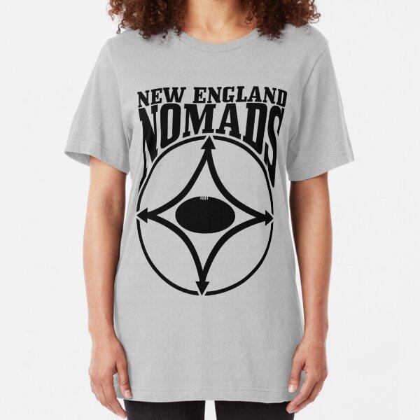 Nomads shield, full chest, black, borderless variation Slim Fit T-Shirt