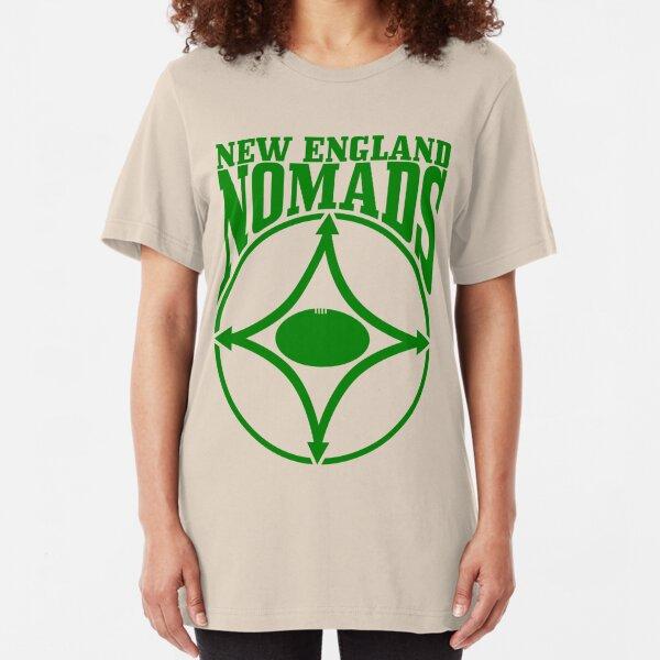 Nomads shield, full chest, green, borderless variation Slim Fit T-Shirt