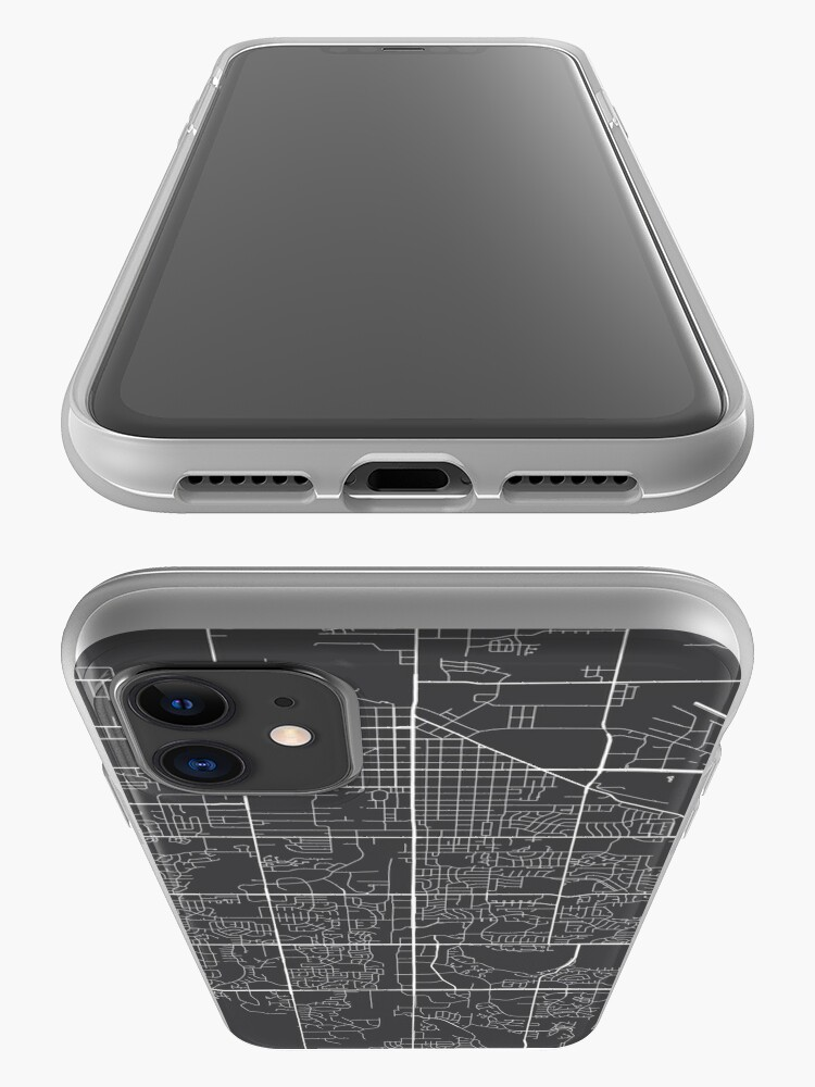 Alternate view of Fort Collins Map, USA - Gray iPhone Case & Cover
